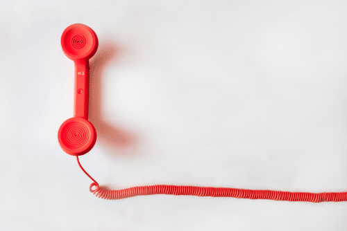 red phone call to action SaaS case studies