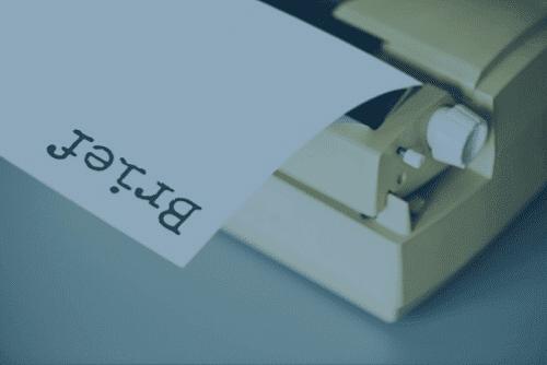typewritten briefe- writer's brief