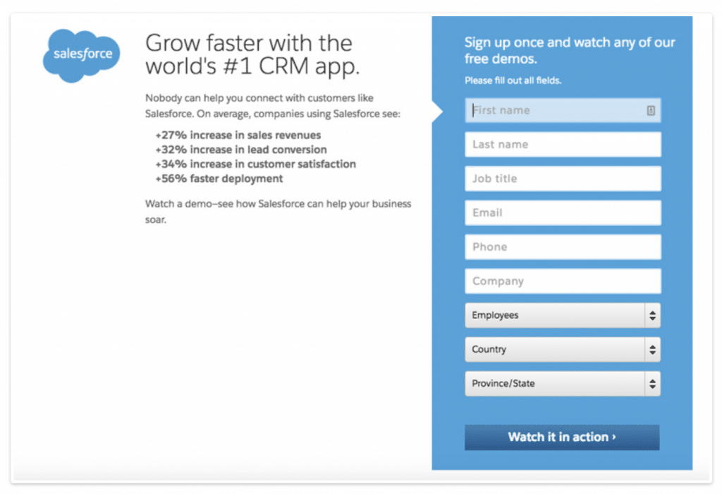Example call to action phrase for a product demo