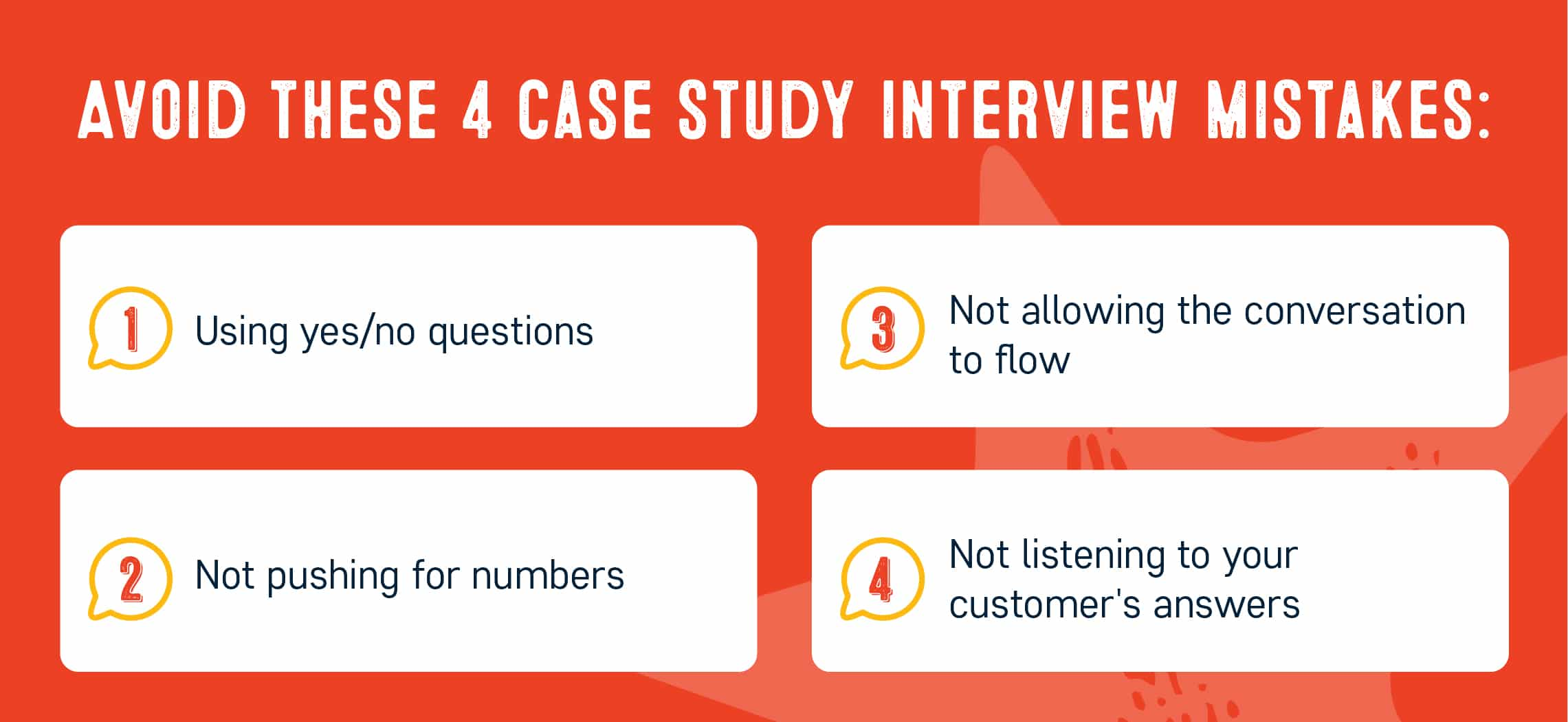 Case study questions: 4 mistakes to avoid